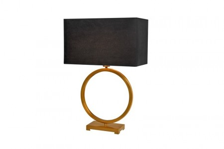 Bordlampe, Fontana Gold m/sort velour skjerm